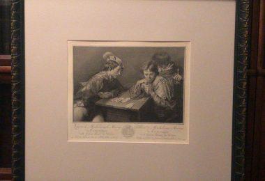 Гравюра с картины Валантена де Булонь из коллекции Дрезденской галереи