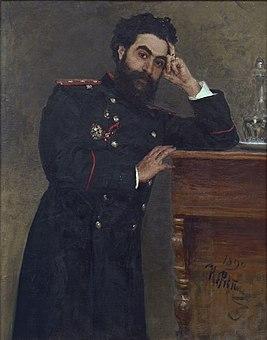 Князь Иван Романович Тарханов. Работа Репина