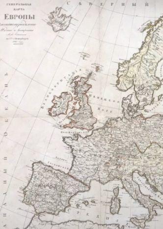 карта европы 1825 год