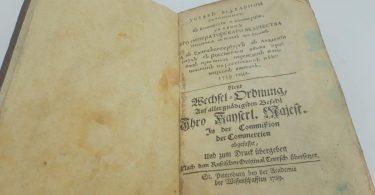 Устав вексельный 1729 года