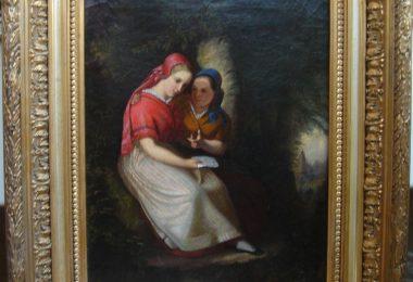 """Картина """"Любовное послание"""" Antoine Constant Pellenc. 1851 год"""