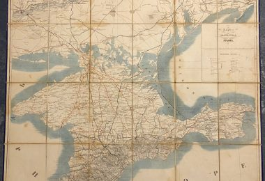 Карта полуострова Крыма 1854 год