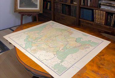 Карта Европейской России Картографическое заведение А.Ильина До 1917 года. 83х105 см,