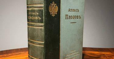 Атлас плодов. Сто хромолитографированых таблиц со 113 описаниями. А.С. Гребницкаго. 1906 год